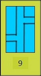 """Рамка на стекло №9 """"Тетрис"""", 20$"""