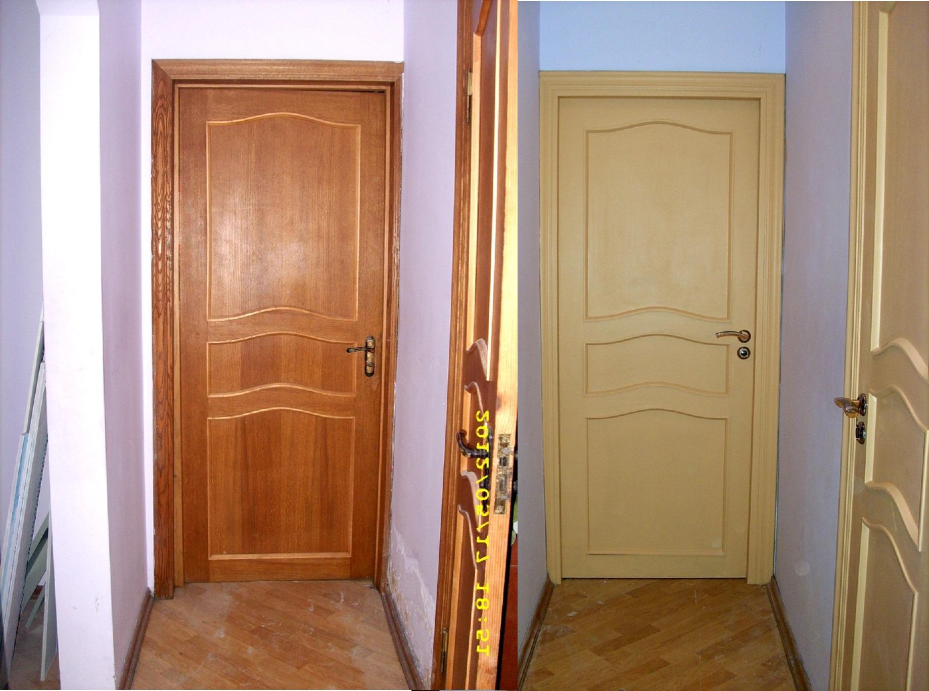Покрасить межкомнатные двери своими руками фото