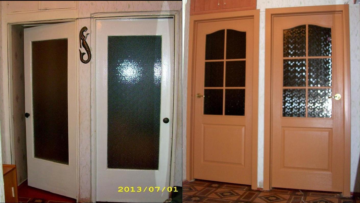 Покрасить старую дверь фото