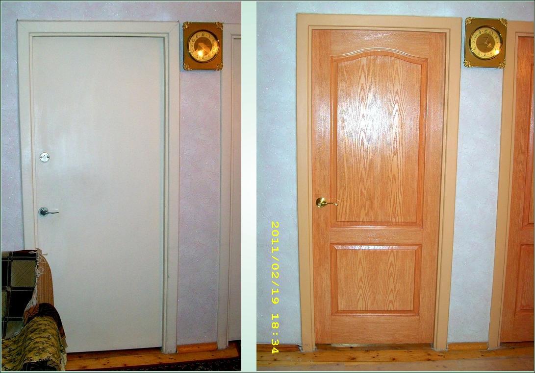 Реставрация межкомнатной двери из двп