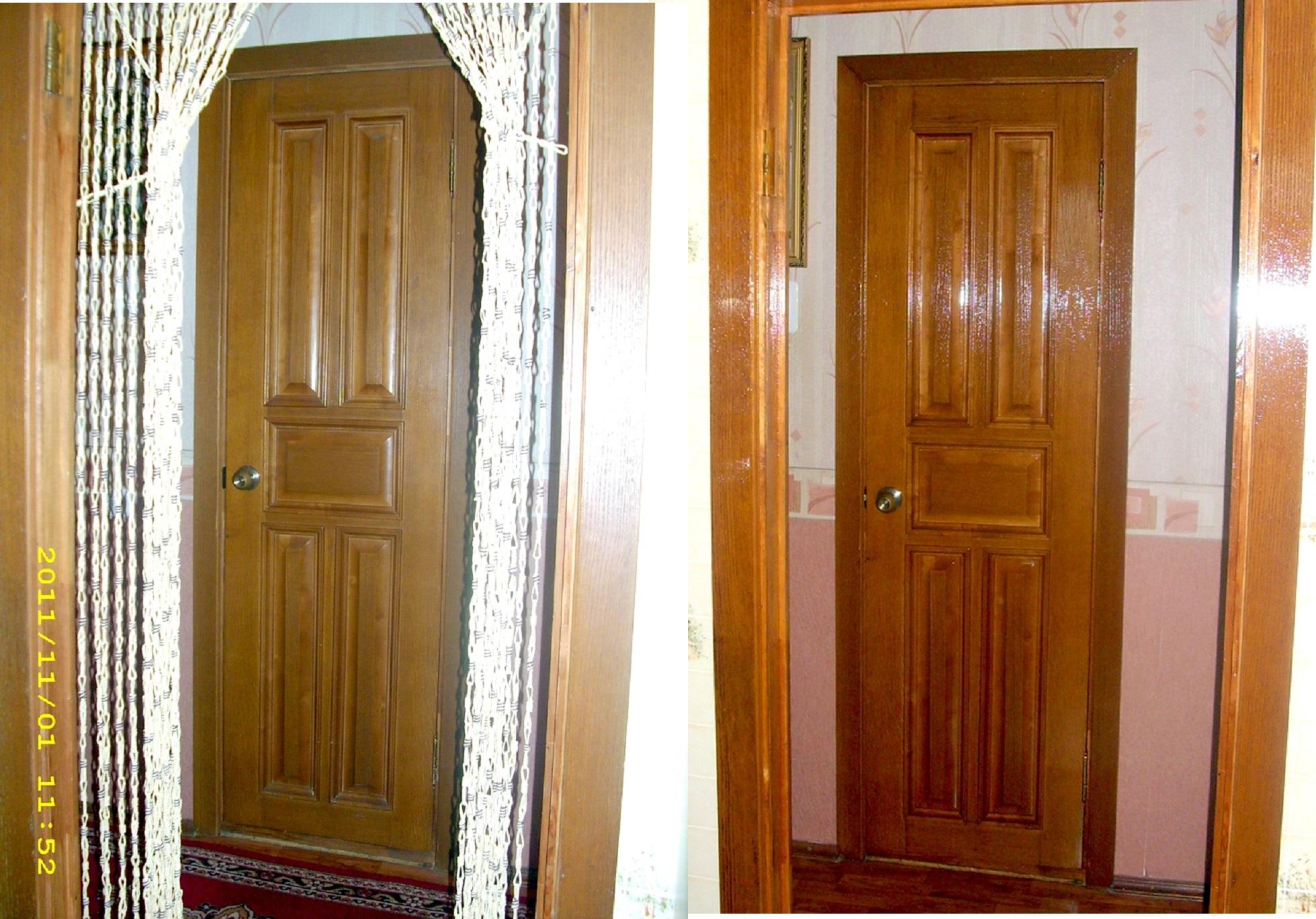 Отреставрировать дверь