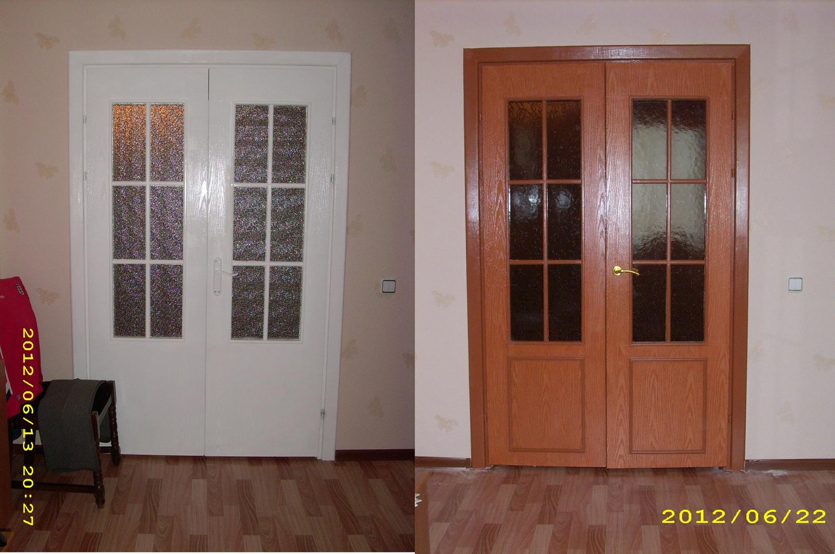 Покраска деревянных дверей: как 37